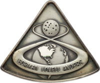 Apollo 8 Flown Silver Robbins Medallion, Serial Number 290, Originally from the Personal Collection of Astronaut Gene Ce...
