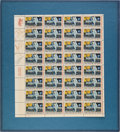 "Autographs:Celebrities, Apollo 11 Crew-Signed Sheet of ""First Man on the Moon"" Stamps,includes JSA LOA. ..."