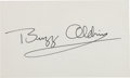 Autographs:Celebrities, Buzz Aldrin Signature. ...