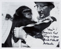 "Autographs:Celebrities, Guenter Wendt Signed Photo Pictured with ""Ham.""..."