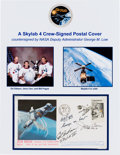 Explorers:Space Exploration, Skylab III (SL-4) Crew-Signed Launch Cover, also Signed by NASA'sGeorge Low. ...