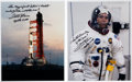 Autographs:Celebrities, Fred Haise Signed Apollo 13 Color Photos (Two). ... (Total: 2Items)