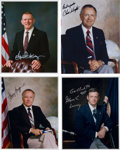 Autographs:Celebrities, NASA Mission Control Flight Directors Individually Signed ColorPhotos (Four). ... (Total: 4 Items)