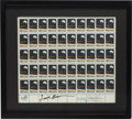 Autographs:Authors, Apollo 8 Sheet of Stamps Signed by Borman and Lovell in a FramedDisplay. ...