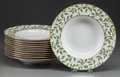 Ceramics & Porcelain, American:Contemporary   (1950 to present)  , A SET OF TWELVE TIFFANY & CO. TIFFANY ARBOR PATTERN PORCELAIN SOUP PLATES, New York, New York, circa 2000. Marks... (Total: 12 Items)