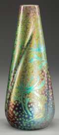 Ceramics & Porcelain, American:Modern  (1900 1949)  , WELLER SICARD POTTERY VASE, Designed by Jacques Sicard, Zanesville,Ohio, circa 1905. Marks: WELLER. 9-3/4 inches high (...