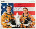 Autographs:Celebrities, Space Shuttle Columbia (STS-2) Crew-Signed Color Photo....(Total: 2 Items)