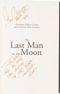 Autographs:Celebrities, Gene Cernan Signed Book The Last Man on the Moon....
