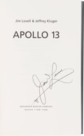 Autographs:Celebrities, James Lovell Signed Book Apollo 13. ...
