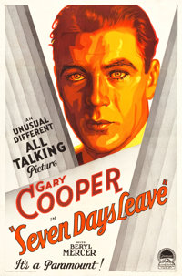 """Seven Days' Leave (Paramount, 1930). One Sheet (27"""" X 41"""") Style A"""