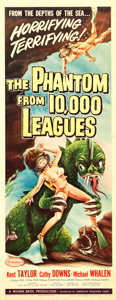 "Movie Posters:Science Fiction, The Phantom from 10,000 Leagues (American Releasing Corp., 1955).Insert (14"" X 36"").. ..."
