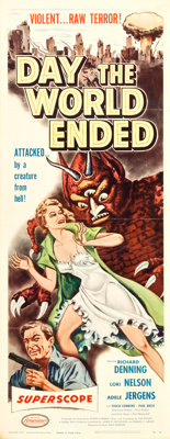 "Day the World Ended (American Releasing Corp., 1956). Insert (14"" X 36""). Science Fiction"