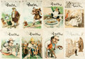 Books:Prints & Leaves, [Puck]. Group of Eight Covers from Puck Magazine, 1888-1905....
