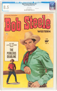 Bob Steele Western #3 (Fawcett Publications, 1951) CGC VF+ 8.5 White pages