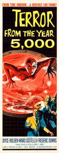 """Movie Posters:Science Fiction, Terror from the Year 5000 (American International, 1958). Insert (14"""" X 36"""").. ..."""
