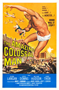"The Amazing Colossal Man (American International, 1957). One Sheet (26.75"" X 41.5""). Science Fiction"