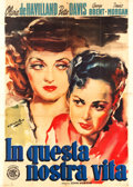 """Movie Posters:Drama, In This Our Life (ENIC, 1949). First Post-War Release Italian 4 - Foglio (55"""" X 78"""") and Locandina (13"""" X 27.25"""").. ... (Total: 2 Items)"""