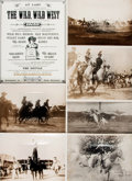 Books:Prints & Leaves, [Wild West Shows]. Small Archive of Material Relating to Wild WestShows. May include photographic reproductions, negatives,...