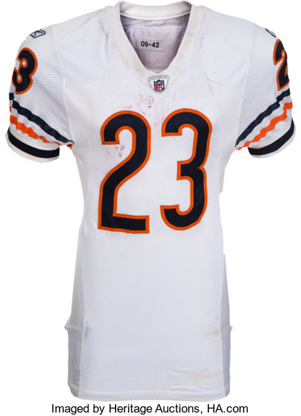 newest bb161 1bee2 2009 Devin Hester Game Worn, Unwashed Chicago Bears Jersey ...