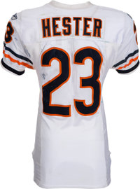 newest 6e166 7f012 2009 Devin Hester Game Worn, Unwashed Chicago Bears Jersey ...