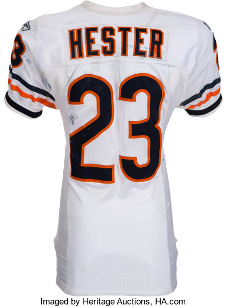 newest 9a71f fee7f 2009 Devin Hester Game Worn, Unwashed Chicago Bears Jersey ...