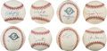 Autographs:Baseballs, 1980's-2000's New York Yankees Single Signed Baseballs Lot of67....