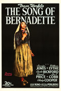 "Movie Posters:Drama, The Song of Bernadette (20th Century Fox, 1943). One Sheet (27.25""X 41"") Style B.. ..."