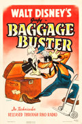 "Movie Posters:Animation, Baggage Buster (RKO, 1941). One Sheet (27.25"" X 41"").. ..."