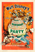 "Movie Posters:Animation, Mickey's Birthday Party (RKO, 1942). One Sheet (27.5"" X 41"").. ..."