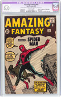 Silver Age (1956-1969):Superhero, Amazing Fantasy #15 (Marvel, 1962) CGC Apparent VG/FN 5.0 Slight(C-1) Off-white pages....