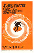 "Movie Posters:Hitchcock, Vertigo (Paramount, 1958). One Sheet (26.5"" X 41"").. ..."