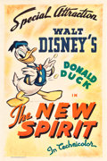 "Movie Posters:Animated, The New Spirit (RKO, 1942). One Sheet (27.5"" X 41"").. ..."