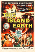 "Movie Posters:Science Fiction, This Island Earth (Universal International, 1955). One Sheet (27"" X41"").. ..."