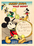 "Movie Posters:Animation, Mickey Mouse Stock Poster (United Artists, 1933). French Affiche(23.5"" X 31.5"").. ..."
