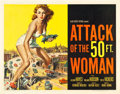 "Movie Posters:Science Fiction, Attack of the 50 Foot Woman (Allied Artists, 1958). Half Sheet (22"" X 28"").. ..."