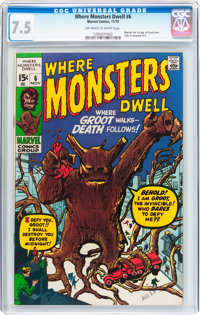 Where Monsters Dwell #6 (Marvel, 1970) CGC VF- 7.5 Off-white to white pages