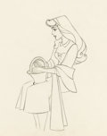 Animation Art:Production Cel, Sleeping Beauty Briar Rose and Prince Phillip AnimationDrawing Group (Walt Disney, 1959).... (Total: 2 Items)