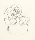 Animation Art:Production Drawing, The Wise Little Hen Animation Drawing Group (Walt Disney,1934).... (Total: 3 Original Art)