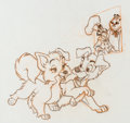 animation art:Model Sheet, Lady and the Tramp II: Scamp's Adventure Animation ModelDrawing Group (Walt Disney, 2001).... (Total: 12 Original Art)