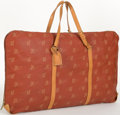 "Luxury Accessories:Travel/Trunks, Louis Vuitton Limited Edition Red LV Cup Canvas Garment Bag.Good Condition. 35"" Width x 21"" Height x 1"" Depth, 7""Han..."