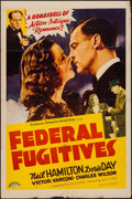 "Movie Posters:Crime, Federal Fugitives (PRC, 1941). One Sheet (27"" X 41""). Crime.. ..."