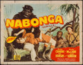 "Movie Posters:Adventure, Nabonga (PRC, 1944). Half Sheet (22"" X 28""). Adventure.. ..."