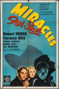 "Miracles for Sale (MGM, 1939). One Sheet (27"" X 41""). Mystery"