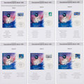 Autographs:Celebrities, Association of Space Explorers 7th Planetary Congress: Fifty-FourAstronaut and Cosmonaut Signatures on Philatelic Cards. ... (Total:6 Items)