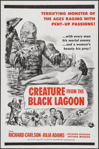 "Creature from the Black Lagoon (Universal International, 1954). Military One Sheet (27"" X 41""). Horror"