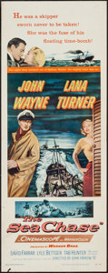 "Movie Posters:War, The Sea Chase (Warner Brothers, 1955). Insert (14"" X 36""). War.. ..."