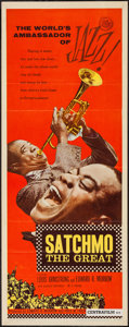 """Movie Posters:Musical, Satchmo the Great (United Artists, 1957). Insert (14"""" X 36""""). Musical.. ..."""