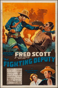 "Movie Posters:Western, The Fighting Deputy (Spectrum, 1937). One Sheet (27"" X 41"").Western.. ..."