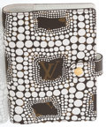 """Luxury Accessories:Accessories, Louis Vuitton Classic Monogram Canvas Infinity Dots Agenda Cover by Yayoi Kusama. Excellent Condition. 4"""" Width x 6"""" H..."""