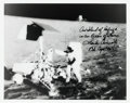 Autographs:Celebrities, Charles Conrad Signed Apollo 12 Lunar Surface Photo. ...